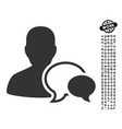 forum moderator icon with men bonus vector image
