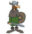 Funny old viking warrior vector image