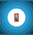 isolated entrance flat icon door element vector image