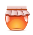 Sweet honey jar vector image