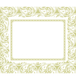 Frame on a ornamental background vector image vector image