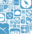 Flying web graphic interface icons background vector image vector image