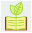 Young plant and book poster vector image vector image