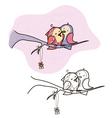 birds valentine vector image