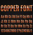 Copper font vector image vector image