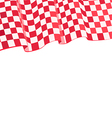 checkered red racing flag on top vector image