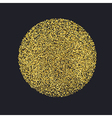 Circle with gold glitter particles on black vector image vector image