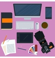 a workplace designer vector image