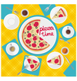 card pizza time vector image