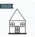 house drawn design vector image
