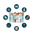 medicine professional people vector image