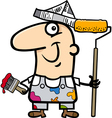 painting worker cartoon vector image