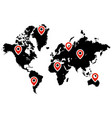 pin pointer on map icon vector image