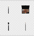 realistic multicolored palette brow makeup tool vector image