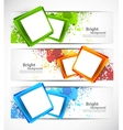 Set of banners vector image