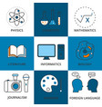 stock linear icon school lessons vector image