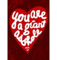 Vintage Saint Valentines typography Can be used vector image