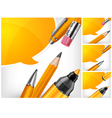 tip pen pencils speech bubble 10 v vector image vector image
