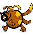 cartoon running dog or puppy vector image vector image