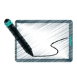 drawing tablet pen digital technology vector image