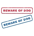 Beware Of Dog Rubber Stamps vector image