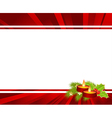 christmas red holly vector image vector image