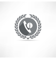Telephone Information icon vector image