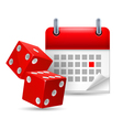 Dice and calendar vector image