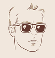 man in glasses eps 10 vector image vector image