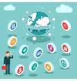 World Business Finances vector image