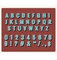 Retro type font vector image