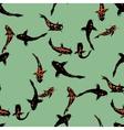 Golden koi fishes seamless print vector image