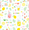 Lemonade party pattern vector image