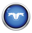 American football chest protection icon vector image