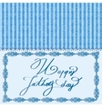 Elegant design of card for Fathers day vector image