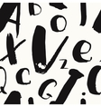 Hand-drawn alphabet brush vector image