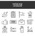 Vote icons set vector image