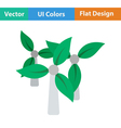 Wind mill with leaves in blades icon vector image