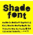 Abstract shade font vector image