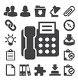 Office icons set eps 10 vector image vector image