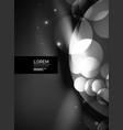 shiny glowing glass circles modern futuristic vector image