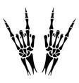 skeleton hands heavy metal sign vector image