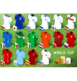 Isometric Uniforms Set of Soccer World Cup vector image vector image