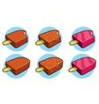 Eskimo pie icons vector image
