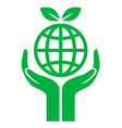 icon earth care vector image