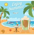 Vacation and Summer Concept vector image