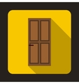 Closed wooden door icon flat style vector image vector image