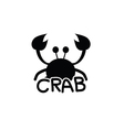 crab animal silhouette vector image