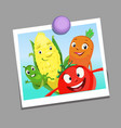 Digital funny cartoon family vector image