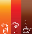 Drinks background vector image